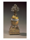 Easter Egg in the Form of a Vase Containing Flowers, 1899 (Metal & Enamel) Giclee Print by Carl Faberge
