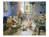 The Nursery, 1889 Giclee Print by Fritz von Uhde