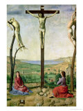 Calvary Or, Christ Between the Two Thieves with Mary and John the Baptist, 1475 Giclée-tryk af Antonello da Messina