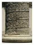 The Battle Against the Dacians, Detail from Trajan's Column, 113 AD (Limestone) Giclee Print