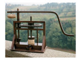 Working Model of an Olive Press from One of Leonardo's Drawings Giclee Print by Leonardo da Vinci