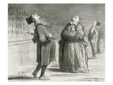 Parisians Waiting for the Famous Comet, 1857 Premium Giclee Print by Honore Daumier