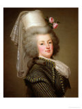 Marie-Antoinette (1755-93) of Habsbourg-Lorraine, Archduchess of Austria, Queen of France Reproduction procédé giclée par Adolf Ulrich Wertmuller
