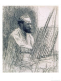 Portrait of Edouard Manet (1832-83) at His Easel Giclee Print by Léon Augustin L'hermitte