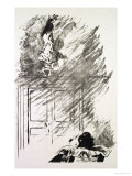 "Illustration for ""The Raven,"" by Edgar Allen Poe, 1875 Giclee Print by Édouard Manet"