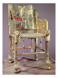 The Throne of Tutankhamun (c. 1370-52 BC) New Kingdom (Gold-Plated Wood with Semi-Precious Stones) Giclee Print