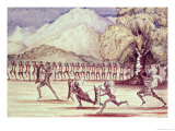 "War Dance Illustration from ""The Albert N'Yanza Great Basin of the Nile"", 1866 Giclee Print by Sir Samuel Baker"