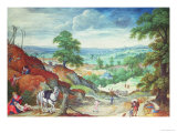 The Good Samaritan Giclee Print by Hans Bol