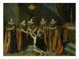 Louis XIII (1601-43) Receiving Henri D'Orleans (1595-1663) Duc De Longueville Giclee Print by Philippe De Champaigne