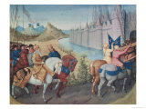 Entry of Louis VII (circa 1120-80) King of France and Conrad III (1093-1152) King of Germany Giclee Print by Jean Fouquet