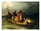 Emigrant Passengers on Board, 1851 Giclee Print by Felix Schlesinger