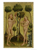 The Fall, Detail from the Grabow Altarpiece, 1379-83 Giclee Print by Master Bertram of Minden