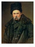 Portrait of the Ukranian Author Taras Grigorievich Shevchenko (1814-61), 1871 Giclee Print by Ivan Nikolaevich Kramskoy