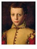 Portrait of Ferdinando De' Medici (1549-1609) (Ferdinand I, Grand Duke of Tuscany) Giclée-tryk af Agnolo Bronzino