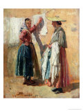 Washerwomen in Antibes, 1869 Giclee Print by Jean-Louis Ernest Meissonier