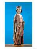 St. Louis (1215-70) (polychrome wood) Lmina gicle