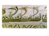 Duke William and His Fleet Cross the Channel to Pevensey, from the Bayeux Tapestry, Before 1082 Giclee Print