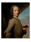 Portrait of the Young Voltaire (1694-1778) Gicléetryck