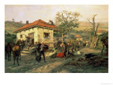 A Scene from the Russian-Turkish War in 1876-77, 1882 Premium Giclee Print by Pawel Kowalewsky
