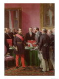 Napoleon III Hands over the Decree Allowing the Annexation of the Suburban Communes of Paris Giclee Print by Adolphe Yvon