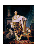 Louis XVI (1754-93) King of France in Coronation Robes, 1777 Giclee Print by Joseph Siffred Duplessis