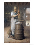 Churning Butter, 1866-68 Giclee Print by Jean-François Millet