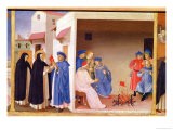 Coronation of the Virgin Detail of St. Dominic Giving the Book to The Albigensians, circa 1430-32 Giclee Print by  Fra Angelico