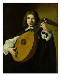 The Lute-Player Premium Giclee Print