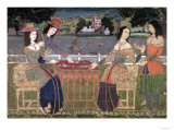 Portuguese Women Eating a Meal, Goa Giclee Print