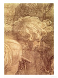 The School of Athens, Detail of the Cartoon of a Young Man's Head, circa 1510 Reproduction procédé giclée par  Raphael