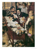The Payment of the Yearly Dues Premium Giclee Print by Pieter Brueghel the Younger