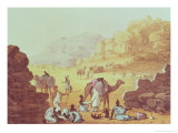 "A Slave Caravan, Plate from ""A Narrative of Travels in Northern Africa,"" 1821 Giclee Print by Captain George Francis Lyon"