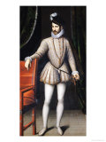 Charles IX (1550-74) King of France Giclee Print by Francois Clouet