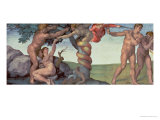 Sistine Chapel Ceiling (1508-12): the Fall of Man, 1510 (Post Restoration) Giclee Print by Michelangelo Buonarroti