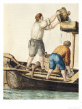 Boatmen Pouring Fresh Water into the Pipelines Reproduction proc&#233;d&#233; gicl&#233;e par Jan van Grevenbroeck
