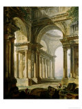 Temple in Ruins Giclee Print by Pierre-Antoine Demachy