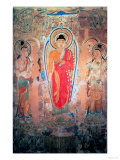 Sakyamuni, the Buddha, Preaching on the Vulture Peak, from Cave 17, Dunhuang, Tang Dynasty Giclee Print