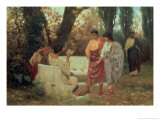 Roman Poet Catullus Reading His Poem, 1885 Giclee Print by Stepan Vladislavovich Bakalovich