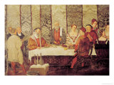 Banquet Given by Bartolomeo Colleoni (1400-75) for Christian I (1426-81) of Denmark Giclee Print by Marcello Fogolino