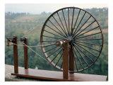 Model of a Spinning Machine from One of Leonardo's Drawings Giclée-Druck von  Leonardo da Vinci