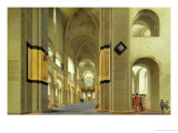 Interior of the Marienkirche in Utrecht, 1638 Premium Giclee Print by Pieter Jansz Saenredam