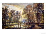 Sunset in the Wood Reproduction procédé giclée par Aert Van Der Neer