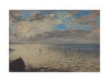 Sea Viewed from the Heights of Dieppe Premium Giclee Print by Eugene Delacroix