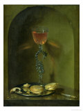 Still Life with Bread and Wine Glass Giclee Print by Isaac Luttichuys