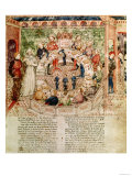 Sir Galahad is Welcomed to the Round Table, circa 1380-85 Giclee Print