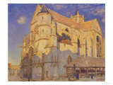 The Church at Moret, Frosty Weather, 1893 Giclee Print by Alfred Sisley