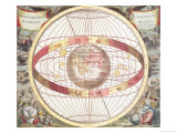 Planisphere, Fr. Atlas Coelestis, Engraved by Pieter Schenk (1660-1719) and Gerard Valk (1651-1726) Reproduction procédé giclée par Andreas Cellarius