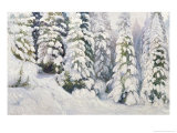 Winter Tale, 1913 Giclee Print by Aleksandr Alekseevich Borisov