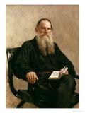 Lev Tolstoy (1828-1810) 1887 Giclee Print by Ilya Efimovich Repin
