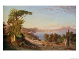 View of Naples Giclee Print by Carl Wilhelm Gotzloff